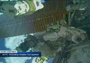 News video: Astronauts Embark on Spacewalk to Prepare Space Station for Future Missions