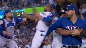 FIGHT!! Matt Kemp Charges At Robinson Chirinos With PUNCHES Thrown! [Video]