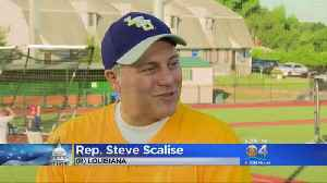 News video: A Year After Getting Shot, Scalise Returns To Field