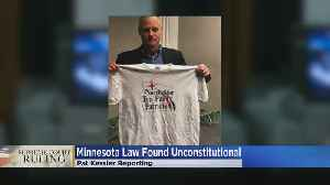 News video: SCOTUS Strikes Down Minn.'s Voter Clothing Law