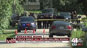 News video: Police shoot, kill sword-wielding woman in the Northland