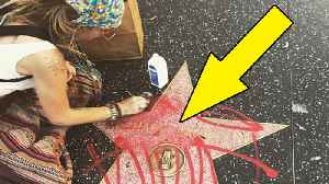 News video: Paris Jackson CLEANS Michael Jackson's DEFACED Hollywood Star!