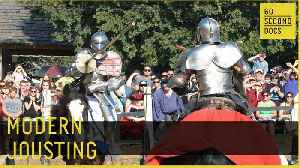 Modern Jousting | Knights of Valour // 60 Second Docs [Video]