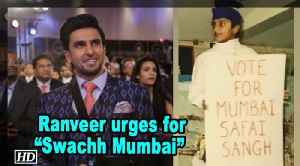 "Ranveer Singh urges for ""Swachh Mumbai"" with Throwback Pic"