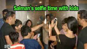 News video: Salman Khan's selfie time with kids | Race 3 party