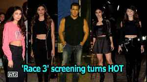 News video: Watch how 'Race 3' screening turns out to be HOT