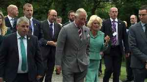 Prince Charles and Camilla take a stroll on the beach in Ireland