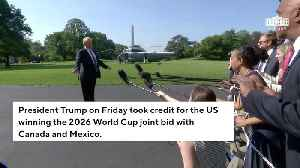 News video: Trump Takes Credit For US Winning Joint Bid To Host 2026 World Cup