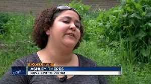 News video: Woman administers CPR to motorcycle crash victims