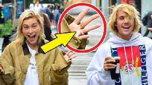 News video: Did Justin Bieber & Hailey Baldwin Just Get ENGAGED!