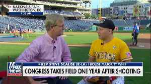 News video: One year after shooting Scalise returns to baseball field