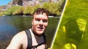 News video: Diver Finds Lost iPhone in Arizona and Returns It to Owner in Florida