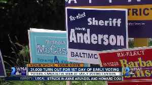News video: 31,000 Turn Out For 1st Day of Early Voting