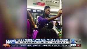 News video: Suspect arrested after 20-year-old woman found dead on bleachers