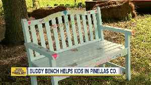 News video: Students add 'Buddy Bench' to foster friendships