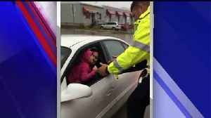 News video: Landscaping Crew Helps Rescue Mom, Daughter from Car Stuck in Flood Waters