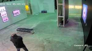 News video: Surveillance Camera Catches Suspect Stealing Banksy Print From Art Exhibit
