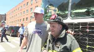 News video: Yankees Players Surprise Retired New York City Firefighter