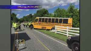 News video: 3 Students, 1 Driver Injured In School Bus Crash In Harford Co.