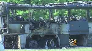 News video: 'We Could Have All Died': Fire Engulfs Greyhound Bus On Turnpike