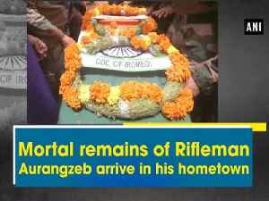 News video: Mortal remains of Rifleman Aurangzeb arrive in his hometown