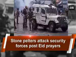 News video: Stone pelters attack security forces post Eid prayers