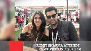 News video: Rohit Sharma Attends FIFA WC With Wife Ritika