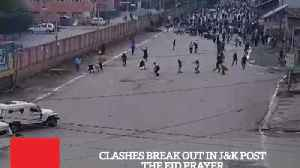 News video: Clashes Break Out In J&K Post The Eid Prayer