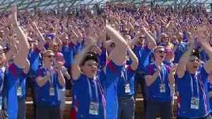 News video: Viking Clap rocks Russia as Iceland fans practice chanting