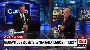 News video: Meghan McCain Lashes Out At Giuliani After He Calls Biden 'Mentally Deficient Idiot'