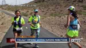 """News video: """"Blind people can live the life we want."""" Legally blind valley mom trains for a marathon"""