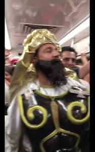 News video: Elaborately dressed Iranian fan heads to team's first match