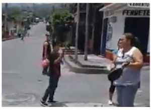 Residents Make Noise on Empty Street During Day-Long Strike
