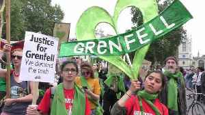 News video: Hundreds march past Downing Street to demand justice for Grenfell victims