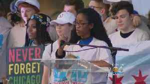 MSD Students Begin Nationwide Tour At Chicago Rally
