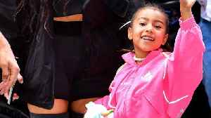 News video: North West Steps Out 'Serving Face' on Her 5th Birthday