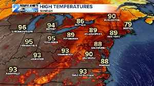 News video: Father's Day Heat Surges In