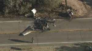 Two Killed in Small Plane Crash That Sparked Brush Fire by Southern California Airport