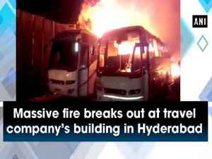 News video: Massive fire breaks out at travel company's building in Hyderabad