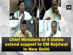 Chief Ministers of 4 states extend support to CM Kejriwal in New Delhi