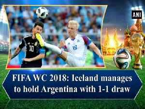 News video: FIFA WC 2018: Iceland manages to hold Argentina with 1-1 draw