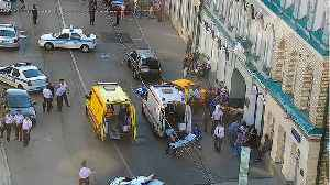 News video: Taxi Plows Into Moscow Crowd