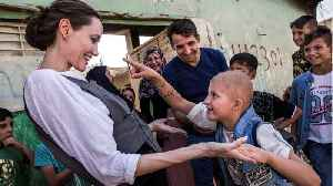 News video: Angelina Jolie Visits Syrian Refugee Camp In Iraq