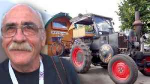 News video: German Man Travels to Russia on 1936 Tractor to Cheer for His Team in World Cup