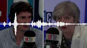News video: Theresa May and Tom Swarbrick: Full Interview