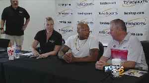 News video: Shazier Autograph Session Benefits UPMC Spinal Cord Injury Research