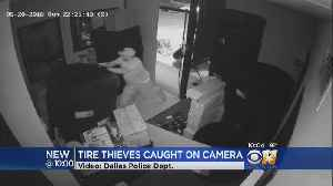 News video: Dallas Police Searching For Tire Thieves Caught On Camera