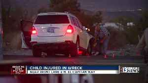 News video: 9-month-old boy in critical condition after t-bone crash near Brent Lane and El Capitan Way