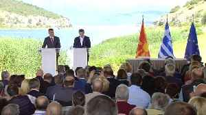 News video: Protests on the Greece-Macedonia border as Macedonia changes its name