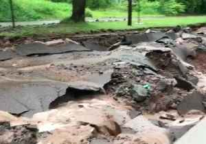 News video: Flash Flooding Destroys Roads in Houghton, Michigan